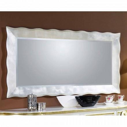Ručně vyráběné obdélníkové italské nástěnné zrcadlo vyrobené v Itálii Simone