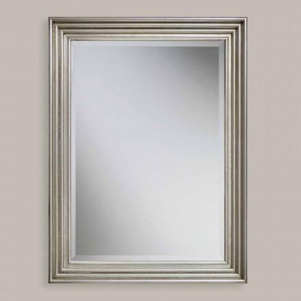 Ručně vyráběné zlaté, stříbrné nástěnné zrcadlo vyrobené v Itálii Stefania