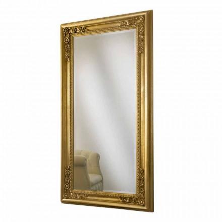 Nástěnné zrcadlo zlaté, stříbrné ruční dřevo vyrobené z Itálie Michele