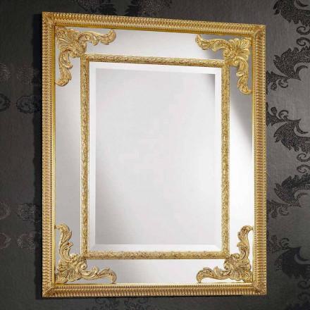 Nástěnné zrcadlo z pravoúhlého dřeva vyráběného v Itálii Valentinem