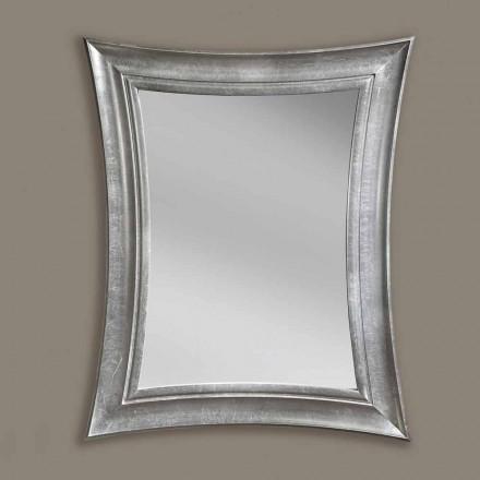 Ručně vyráběné obdélníkové dřevěné zrcadlo Sandro z Itálie