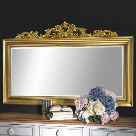 Ručně vyráběné nástěnné zrcadlo ze dřeva a pryskyřičné vlysy v Itálii Matteo