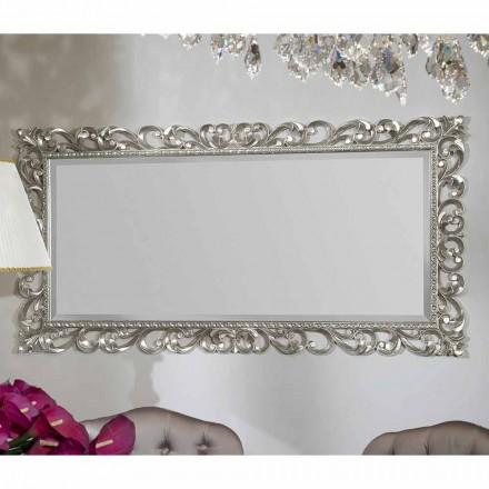 Nástěnné zrcadlo v moderní dřevěné ručně vyráběné v Itálii Mattia