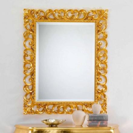 Nástěnné zrcadlo klasické konstrukce s pozlátko úpravou Paříži