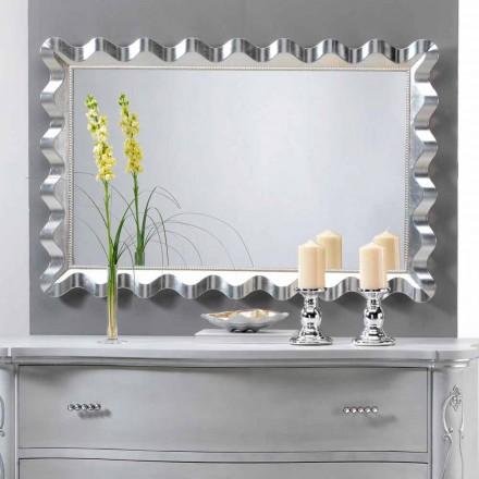 Zrcadlo moderního designu stěny zdobené perlami Lane