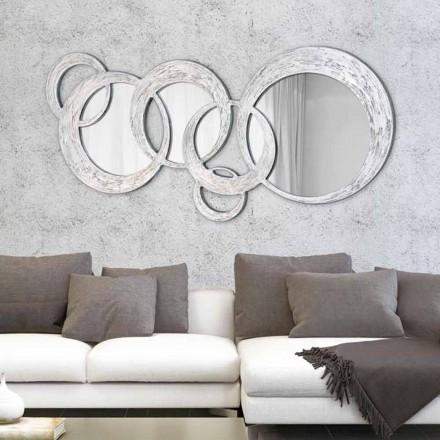 Design zrcadlo stěn Kruhy podle Viadurini Decor