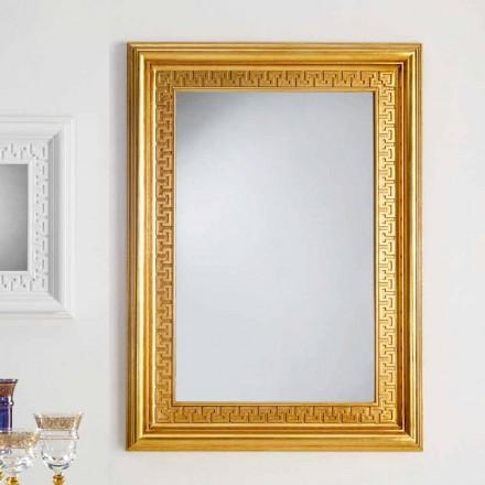 Zrcadlo designer stěna s dřevěným rámem Viva, 96x132 cm