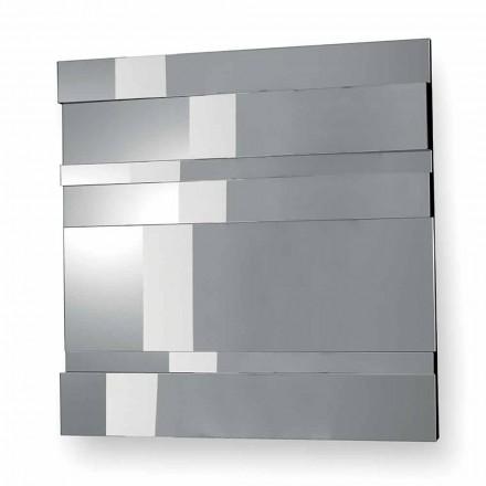 Moderní designové nástěnné zrcadlo ze skla a kovu vyrobené v Itálii - Pallino