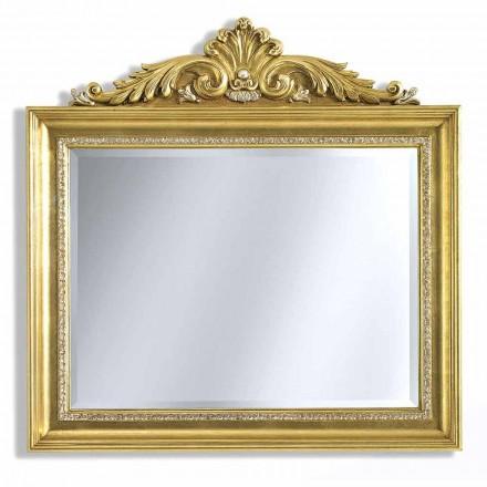 Nástěnné zrcadlo s pryskyřicí a dřevem vlys ručně vyráběné v Itálii Ivan