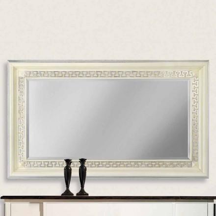 Nástěnné zrcadlo v Ayous dřeva ručně vyráběné v Itálii Maicol