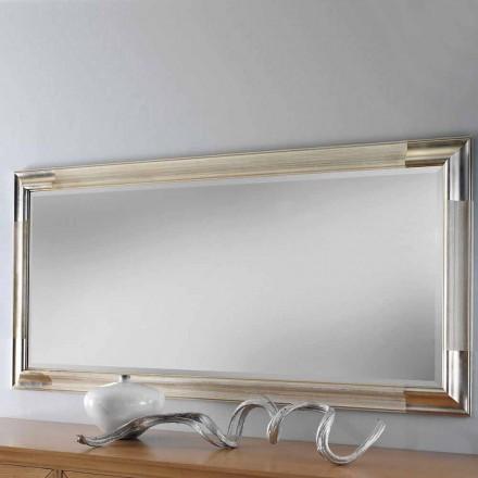 Moderní dřevěné nástěnné zrcadlo vyrobené v Itálii Piera
