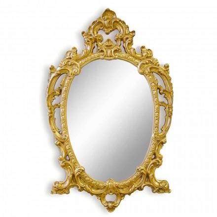 Ručně vyráběné oválné dřevěné nástěnné zrcadlo v Itálii Roberto