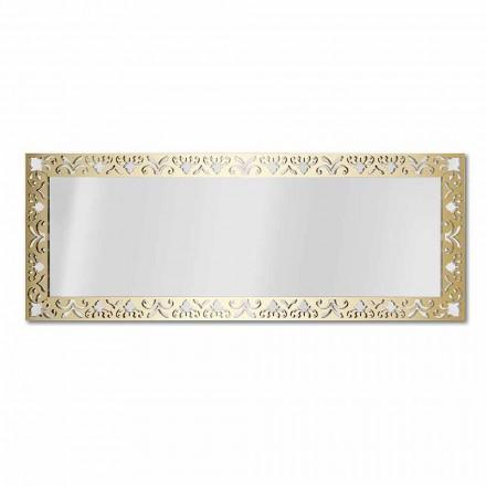 Nástěnné zrcadlo ve zlatém, stříbrném nebo bronzovém plexiskle s rámečkem - nektar