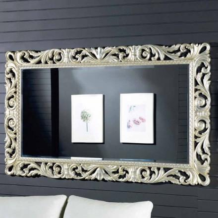 Moderní designové dřevěné nástěnné zrcadlo vyrobené v Itálii Nicola