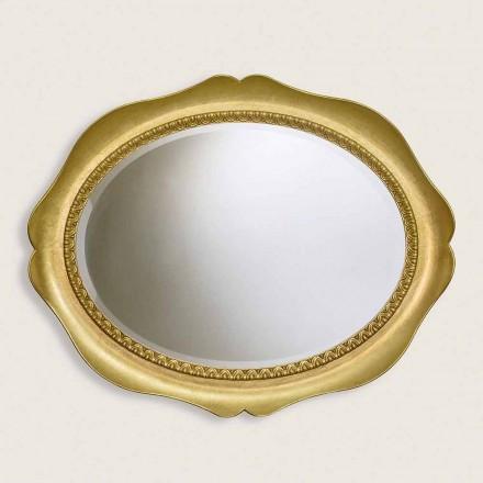 Ayous dřevěné nástěnné zrcadlo ručně vyráběné v Itálii Franco
