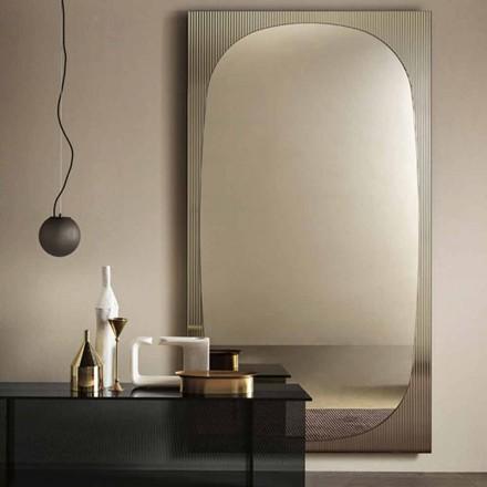 Moderní nástěnné zrcadlo s bronzovým zrcadlem vyrobené v Itálii - Bandolero