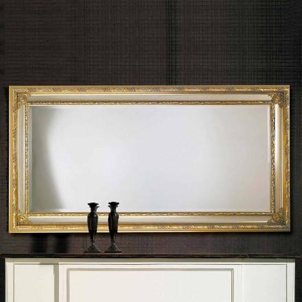 Moderní nástěnné zrcadlo v ayous dřevo vyrobené v Itálii Armando