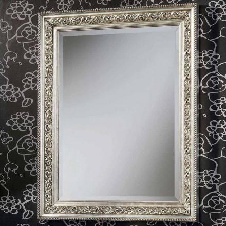 Moderní nástěnné zrcadlo v dřevě ručně vyráběné v Itálii Piero