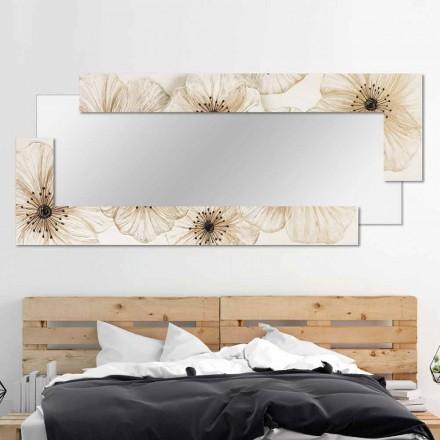 Moderní zrcadlo stěny v pryskyřici vyráběné v Itálii Sacile