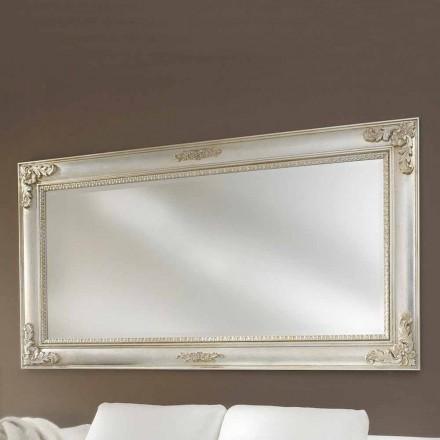 Ručně vyráběné ayous vyrobené v Itálii nástěnné zrcadlo Alessio dřevo