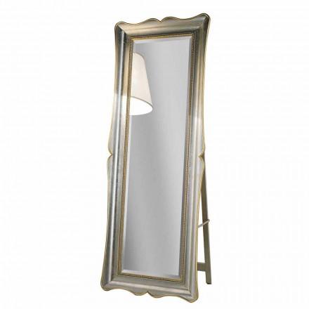 Dřevěné podlahové zrcadlo Ayous s podstavcem vyrobené v Itálii Jonni