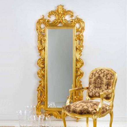 Zrcadlo podlaha / stěna klasický design, plátkové zlato dokončit Guerin