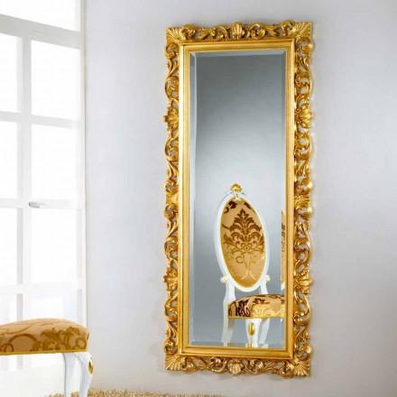 Zrcadlo podlaha / stěna design s pozlátko úpravou Mata