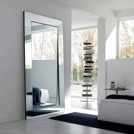 Obdélníkový moderní design Volně stojící zrcadlo vyrobené v Itálii - Salamina