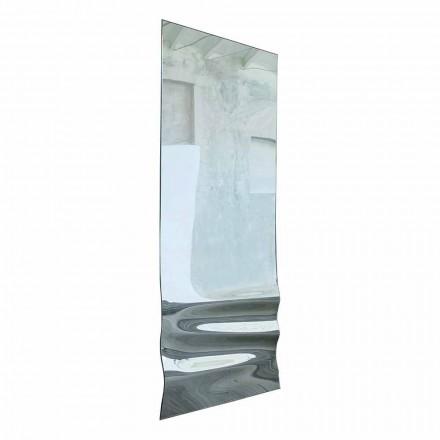 Velké zrcadlo ve vlnitém křišťálovém provedení vyrobené v Itálii - Athena