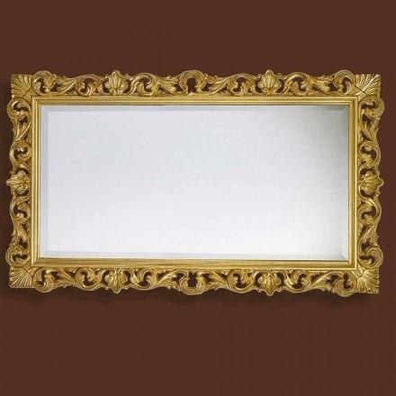 Zrcadlo v moderním ručně zpracovaném dřevu vyráběném v Itálii Nicol