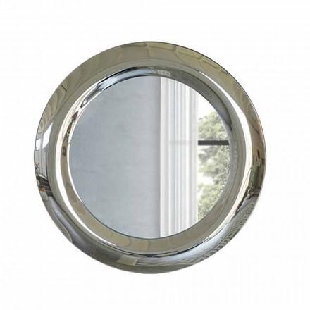 Velké nástěnné zrcadlo v křišťálovém provedení vyrobené v Itálii - Stilla