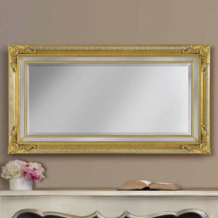 Moderní elegantní dřevěné nástěnné zrcadlo vyrobené v Itálii Carlo