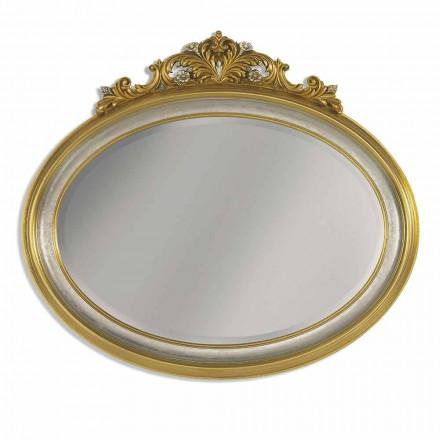 Zrcadlo nástěnné vlys pryskyřice a ayous dřevo vyrobené v Itálii Alberto