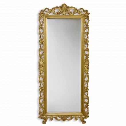 Zrcadlo nástěnné ayous dřevo ručně zlato, stříbro v Itálii Francesco