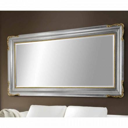 Dřevěné nástěnné zrcadlo vyrobené v Itálii Cristian