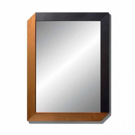 Obdélníkové zrcadlo s dřevěným rámem Made in Italy Design - Cira