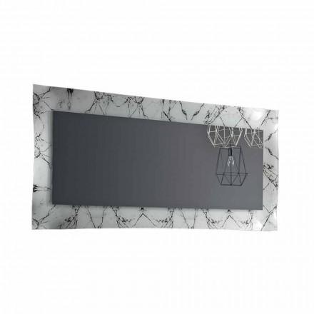 Obdélníkové designové zrcadlo se skleněným rámem vyrobené v Itálii - Eclisse