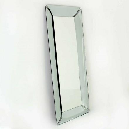 Velké obdélníkové zrcadlo v provedení Made in Italy Design Crystal - Twin