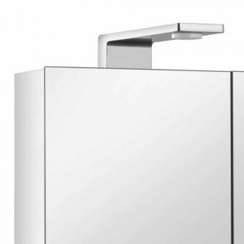 2-dveřové zrcadlo se stříbrným hliníkovým kontejnerem a chromovanými detaily - Maxi