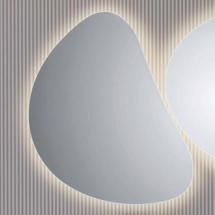 Zrcadlo stěnu koupelny s LED podsvícením Pirro