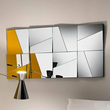 Modulární nástěnné zrcadlo s konkávními a konvexními zrcadly vyrobenými v Itálii - Allegria