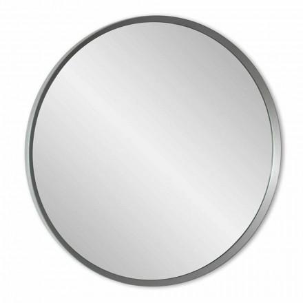 Kulaté nástěnné zrcadlo s lakovaným rámem elegantního moderního designu - Odesso