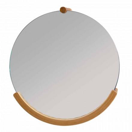 Nástěnné koupelnové zrcadlo s bambusovým rámem Gorizia
