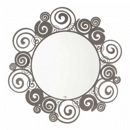 Kruhové nástěnné zrcadlo moderního designu v železo vyrobené v Itálii - Moira