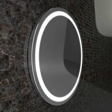 Zrcadlo s nerezovými hranami, moderní design LED světel Charly