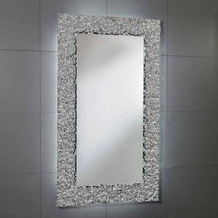 Zrcadlo s rámem dekorace v moderním designu skla, Cecilia