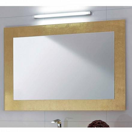 Zrcadla v koupelně skleněné rám zdobí Pascal zlatem