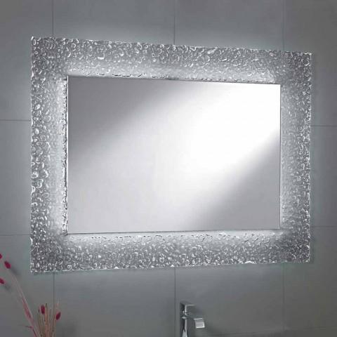 Zrcadlo Moderní Koupelna S Dekoračního Skla Rámem A Led Svítidly Tara