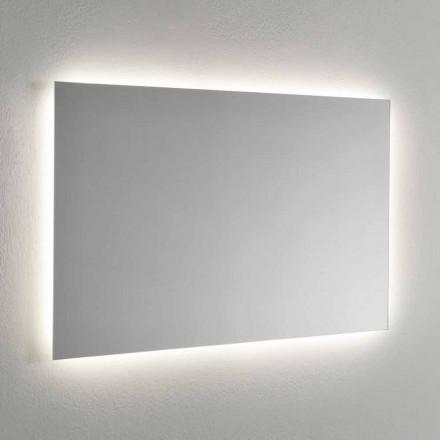 Nástěnné zrcadlo s LED podsvícením na 4 stranách Made in Italy - Romio
