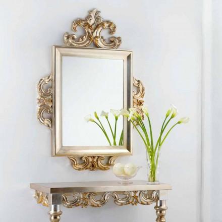 Stěna zrcadlo klasické konstrukce Guy, 113x155 cm, vyrobeno v Itálii